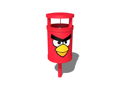 Theme play: ANGRY BIRDS PLAY PARK RED BIRD WASTE BASKET