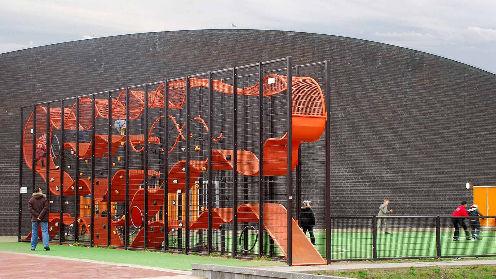 Space Saving Vertical Urban Play Structure Www Lappset Com