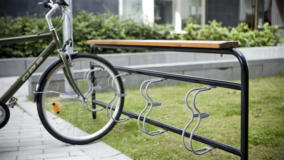 lappset bicycle stand for parks