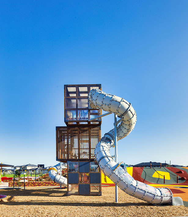 Image from the front of Halo Cubic in Australia by Lappset Group