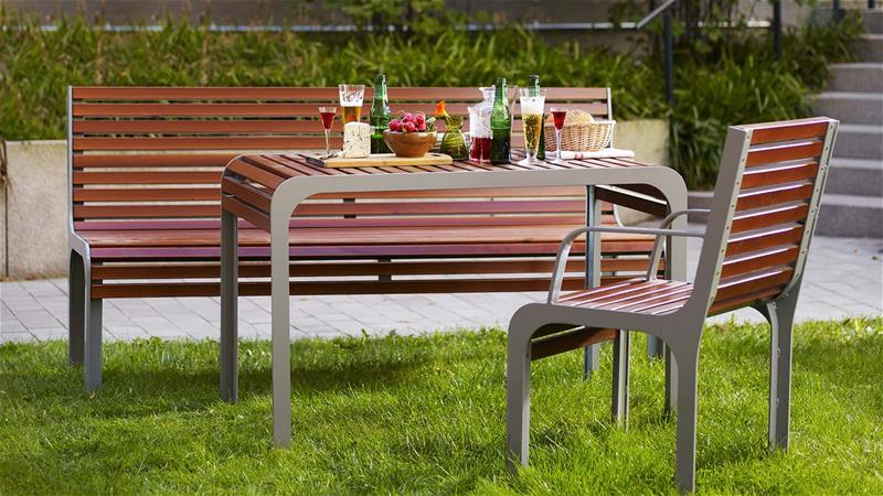 Park benches, park furniture and pergolas - www.lappset.com
